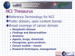 nci thesaurus