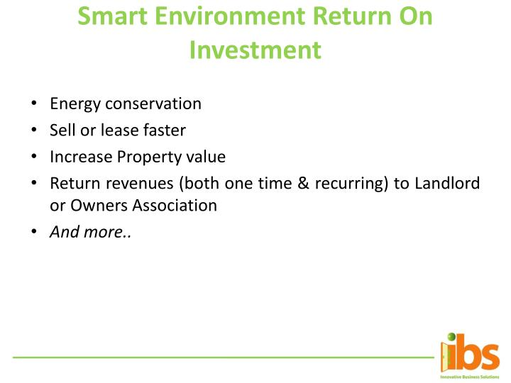 Smart Environment Return