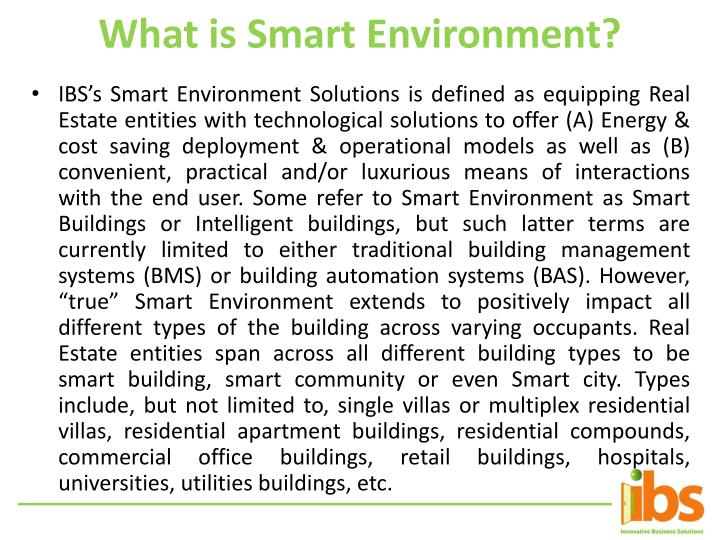 What is Smart Environment?