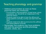 teaching phonology and grammar