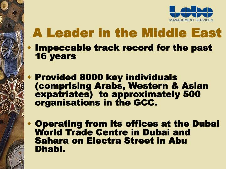 A Leader in the Middle East