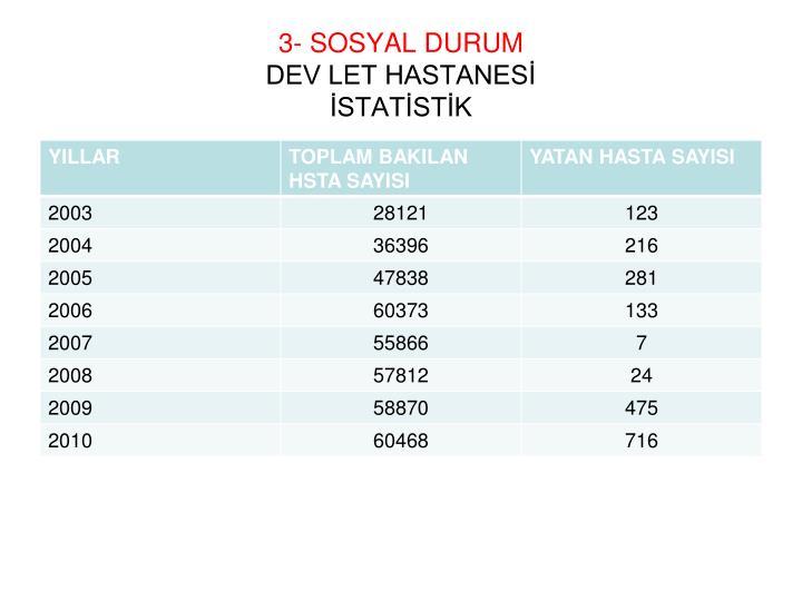 3- SOSYAL DURUM