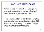 error rate thresholds1
