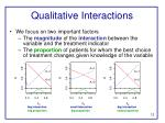 qualitative interactions1
