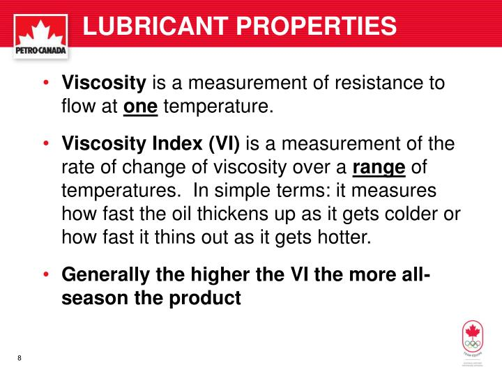 LUBRICANT PROPERTIES
