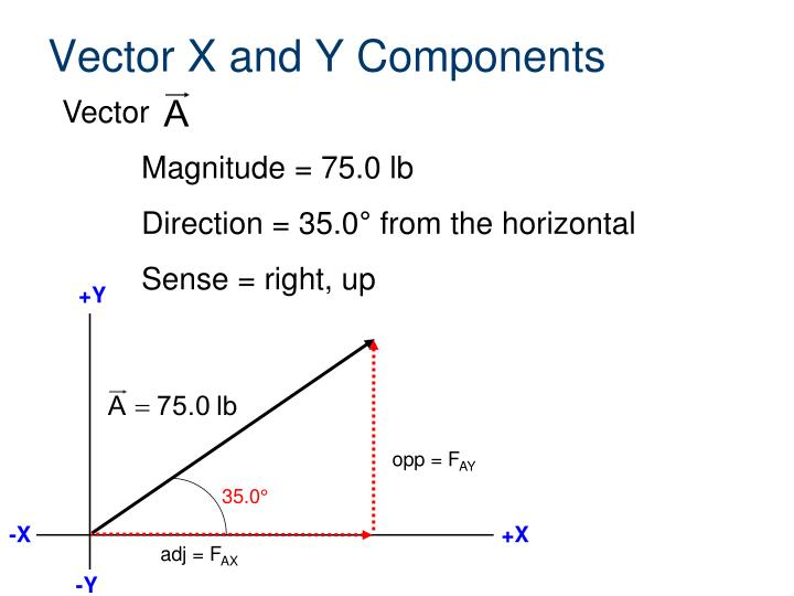 Vector X and Y Components