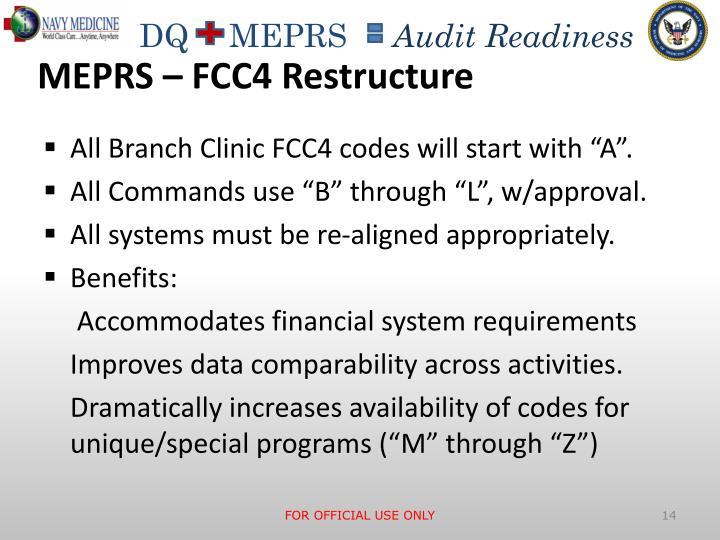 MEPRS – FCC4 Restructure
