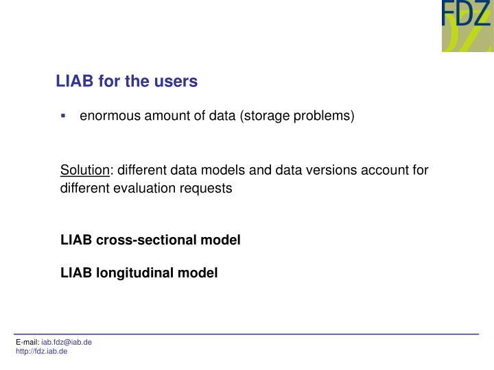 LIAB for the users