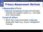 primary measurement methods