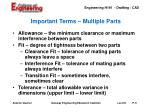 important terms multiple parts