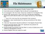 file maintenance