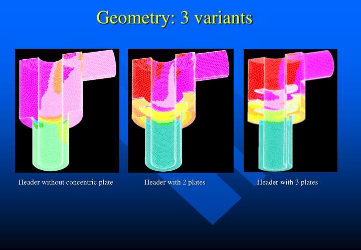 Geometry: 3 variants