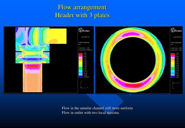 Flow arrangement
