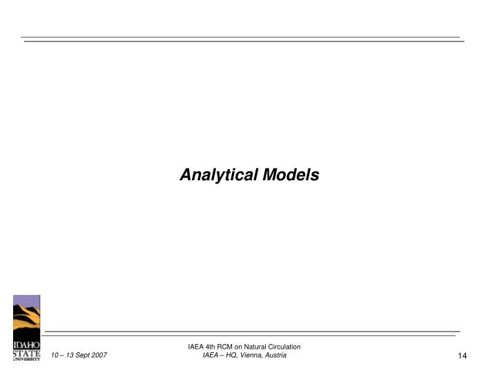 Analytical Models