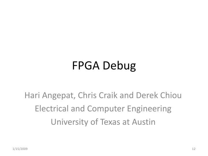 FPGA Debug