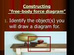 constructing free body force diagram