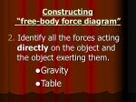 constructing free body force diagram1
