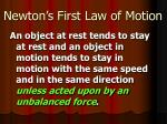 newton s first law of motion2