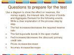 questions to prepare for the test