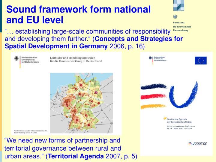 Sound framework form national