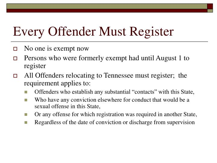 Every Offender Must Register