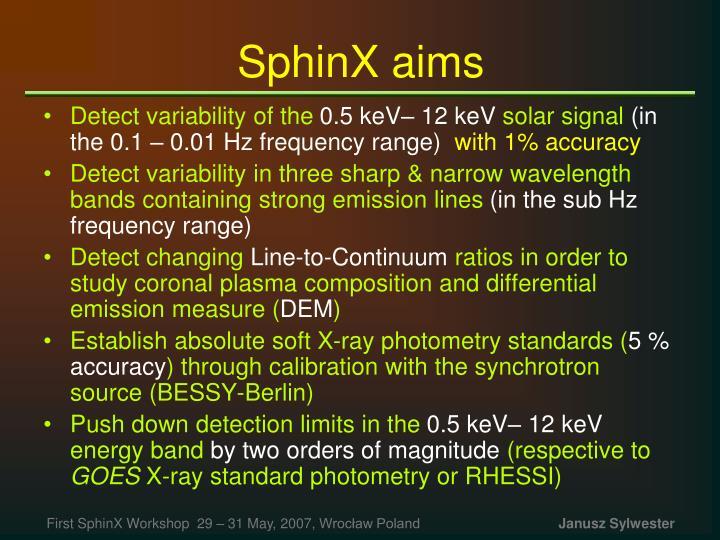 Sphinx aims