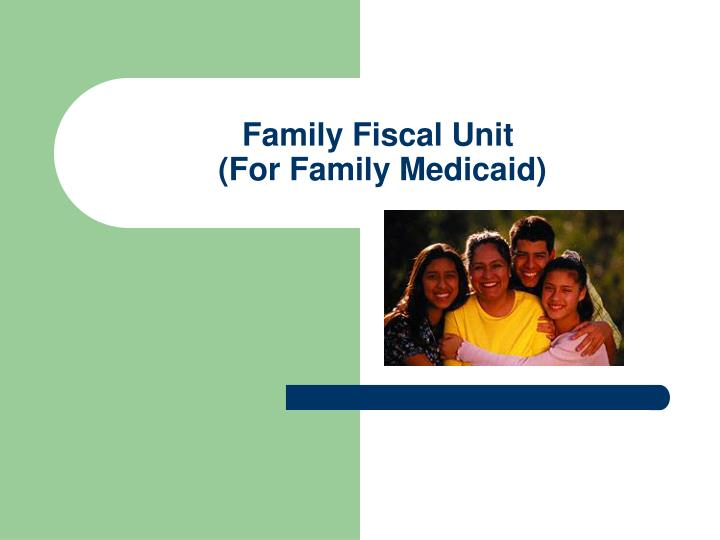 Family Fiscal Unit