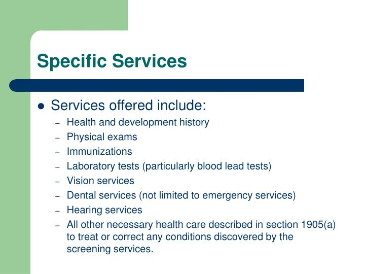 Specific Services