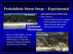 probabilistic storm surge experimental