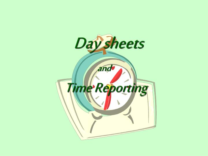 And time reporting