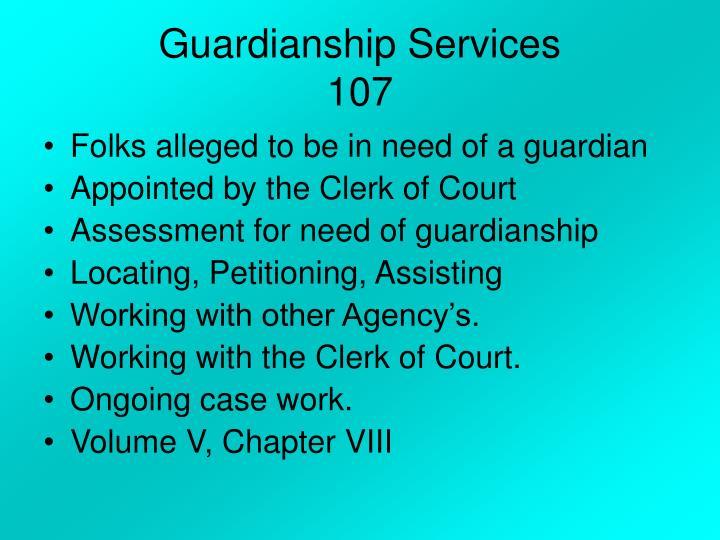 Guardianship Services