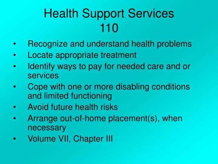 Health Support Services