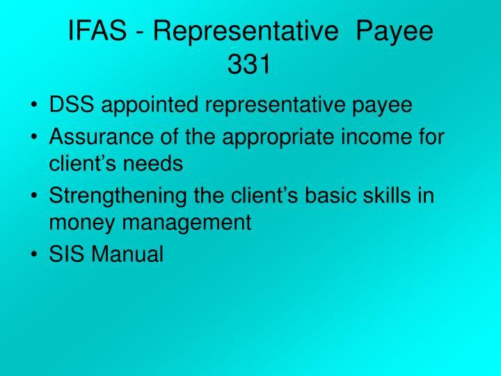 IFAS - Representative  Payee