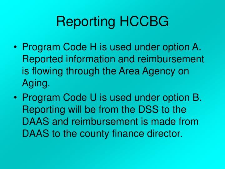 Reporting HCCBG