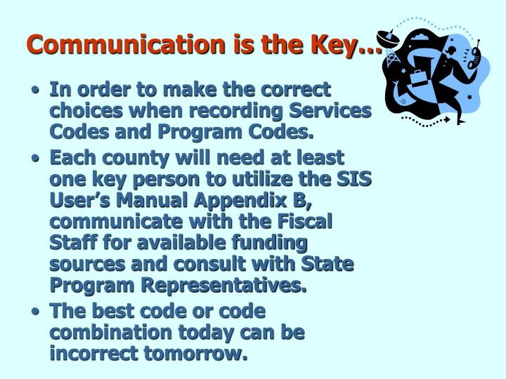 Communication is the Key…