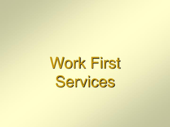 Work First Services