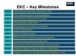 ekc key milestones