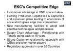 ekc s competitive edge