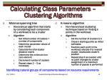 calculating class parameters clustering algorithms