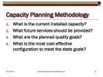 capacity planning methodology
