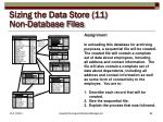 sizing the data store 11 non database files