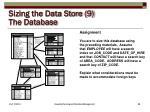 sizing the data store 9 the database