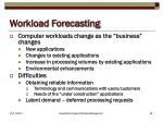 workload forecasting
