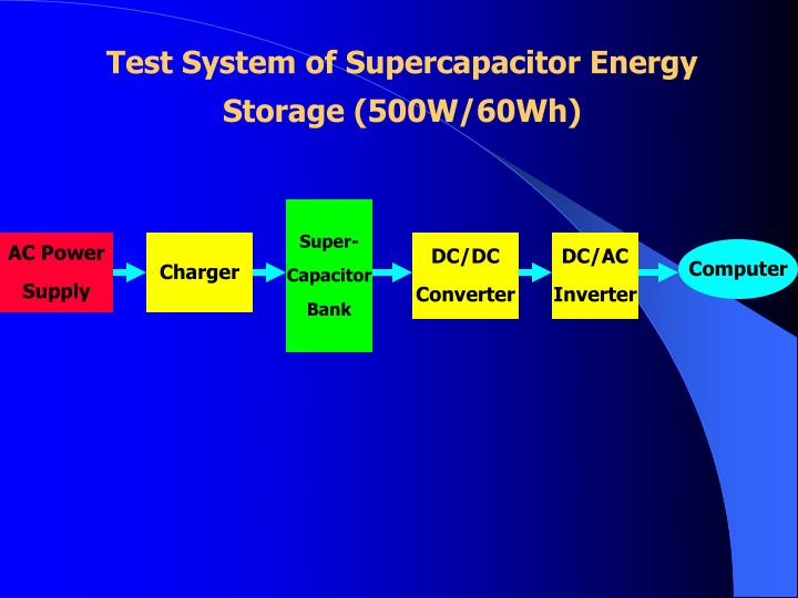 Test System of Supercapacitor Energy Storage (500W/60Wh)