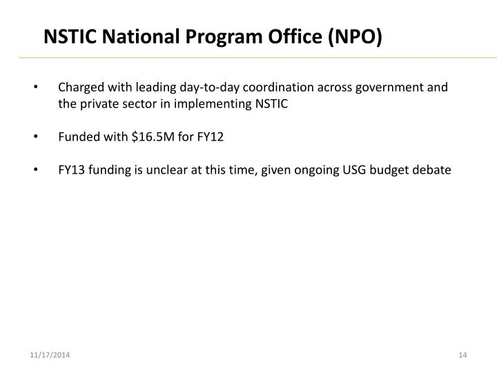 NSTIC National Program Office (NPO)