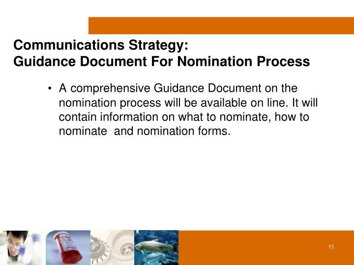 Communications Strategy: