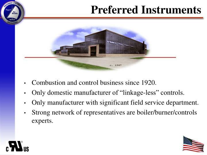 Preferred Instruments