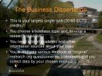 the business dissertation