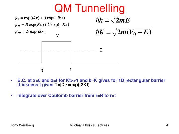 QM Tunnelling