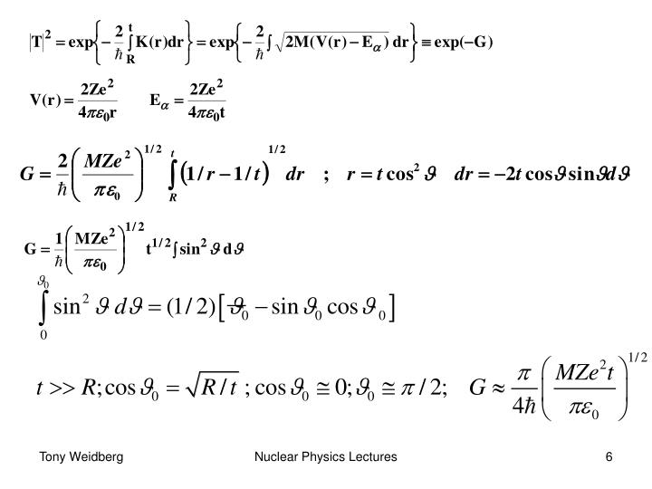 Nuclear Physics Lectures